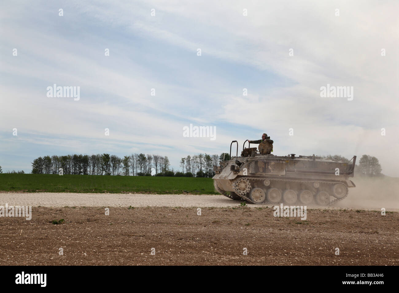 Tank driving experience, Juniper Leisure, Members of the public experience driving military vehicles. - Stock Image