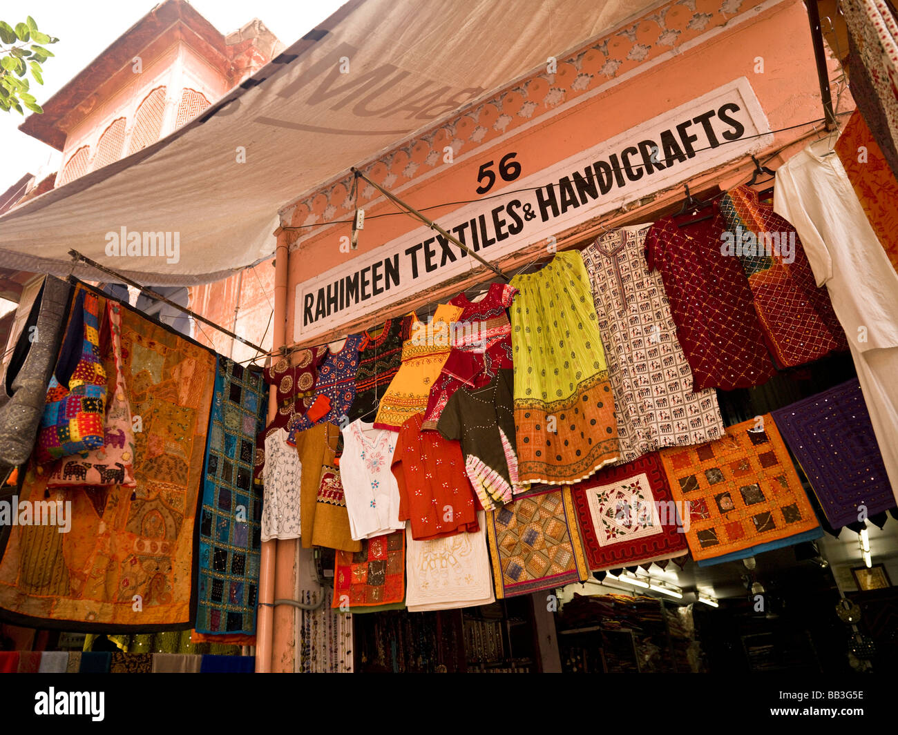 Clothes Display At Market Jaipur India Stock Photo 24050138 Alamy