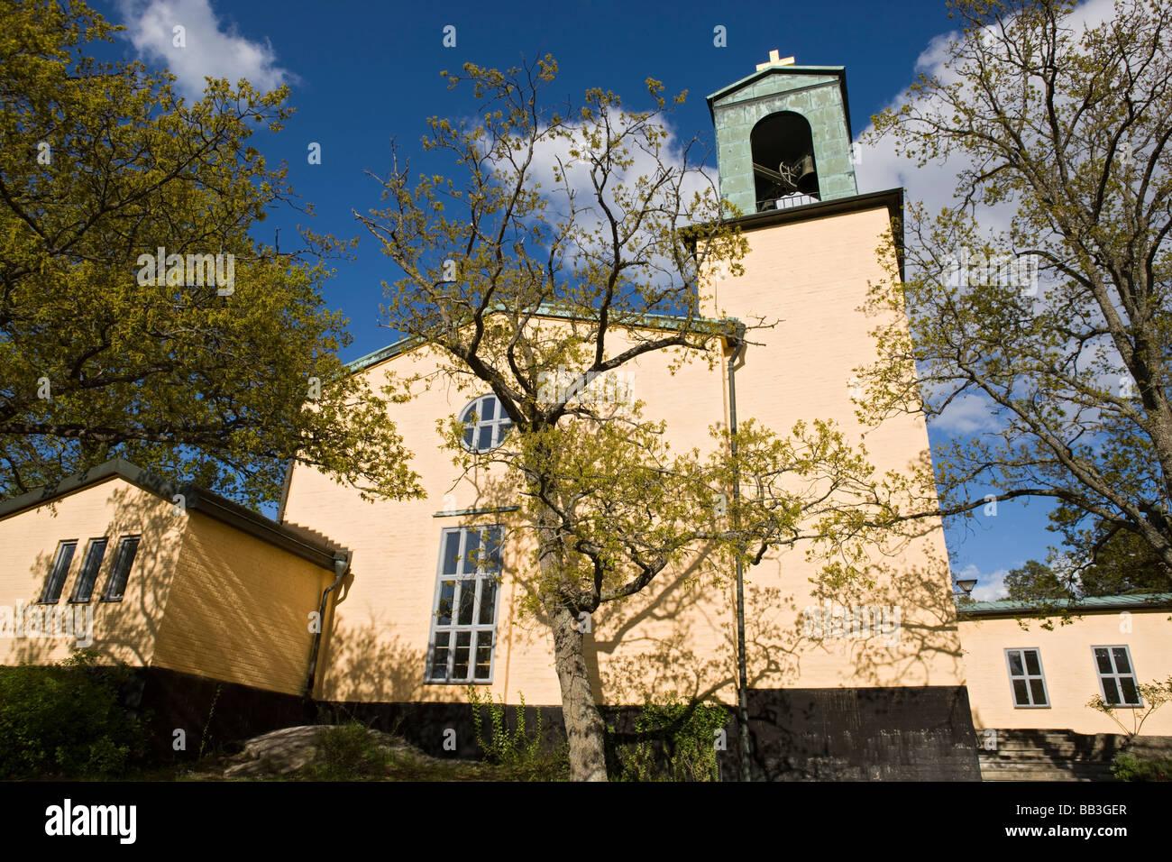 Brevik Church (Lidingo) Stock Photo