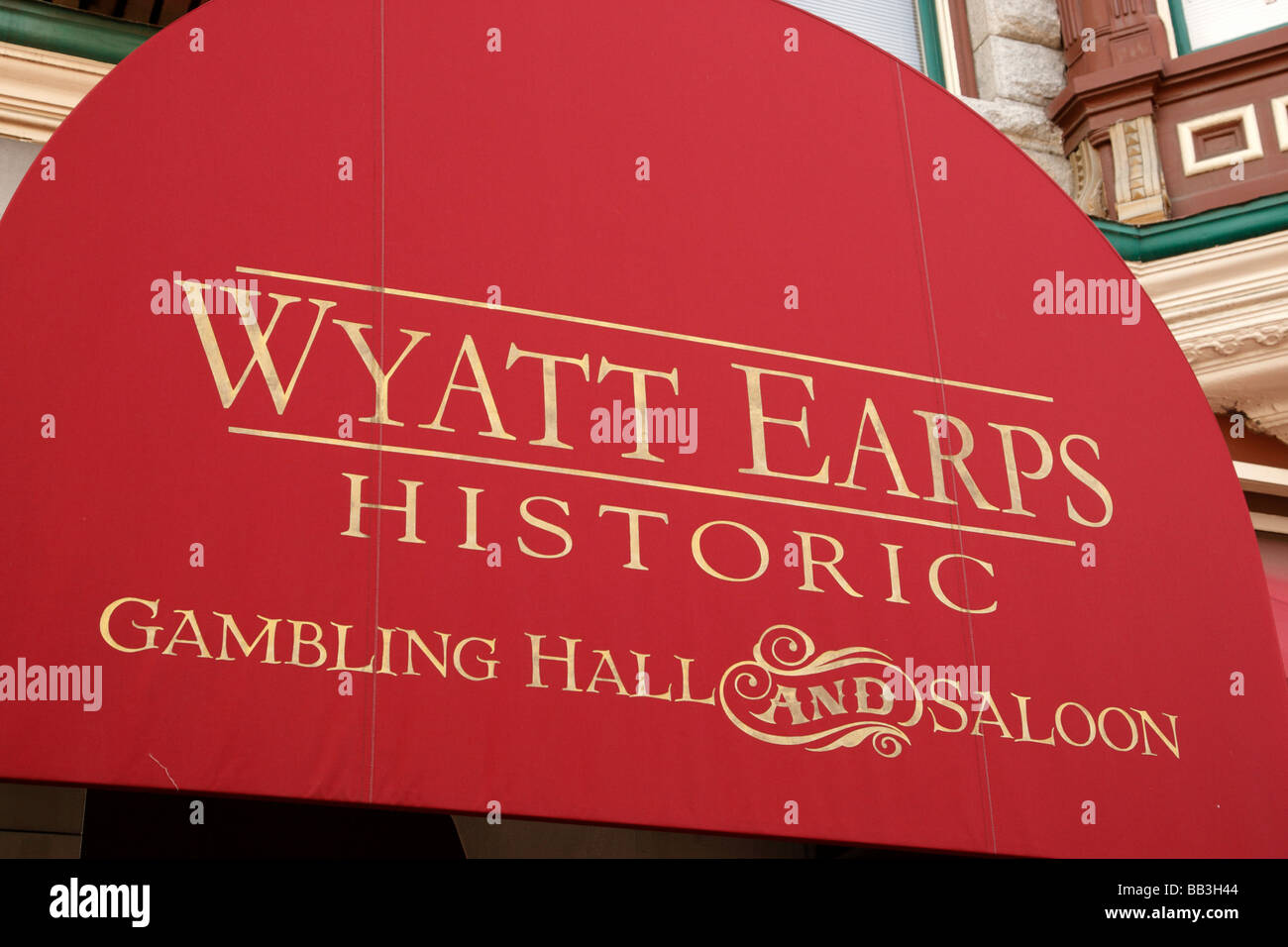 georges on fifth avenue former home of wyatt earps gambling hall & saloon gaslamp quarter san diego california - Stock Image