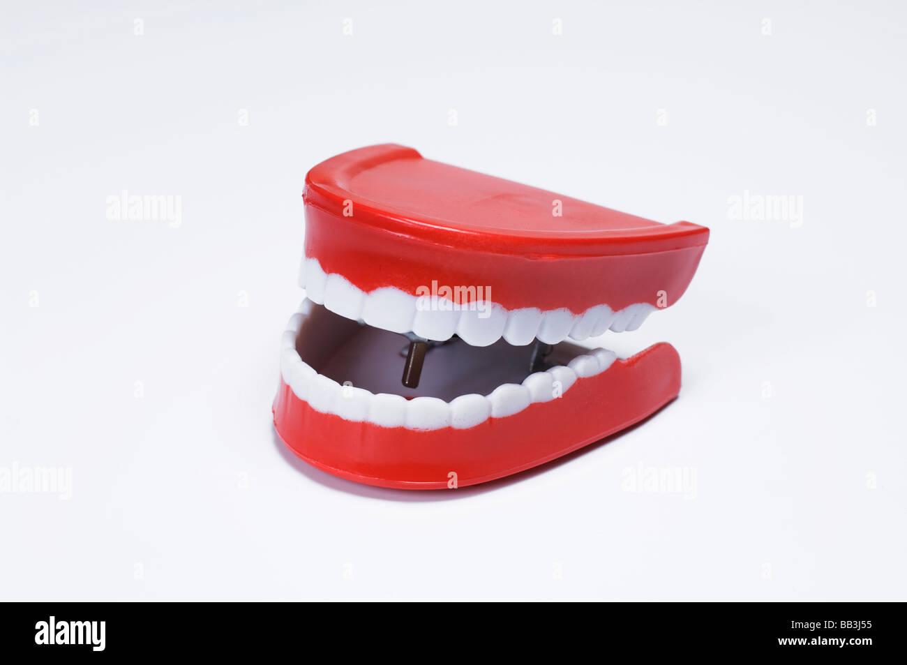 Joke false teeth - Stock Image