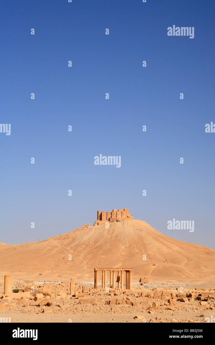 Qalaat Ibn Maan Citadel, Palmyra, Syria - Stock Image