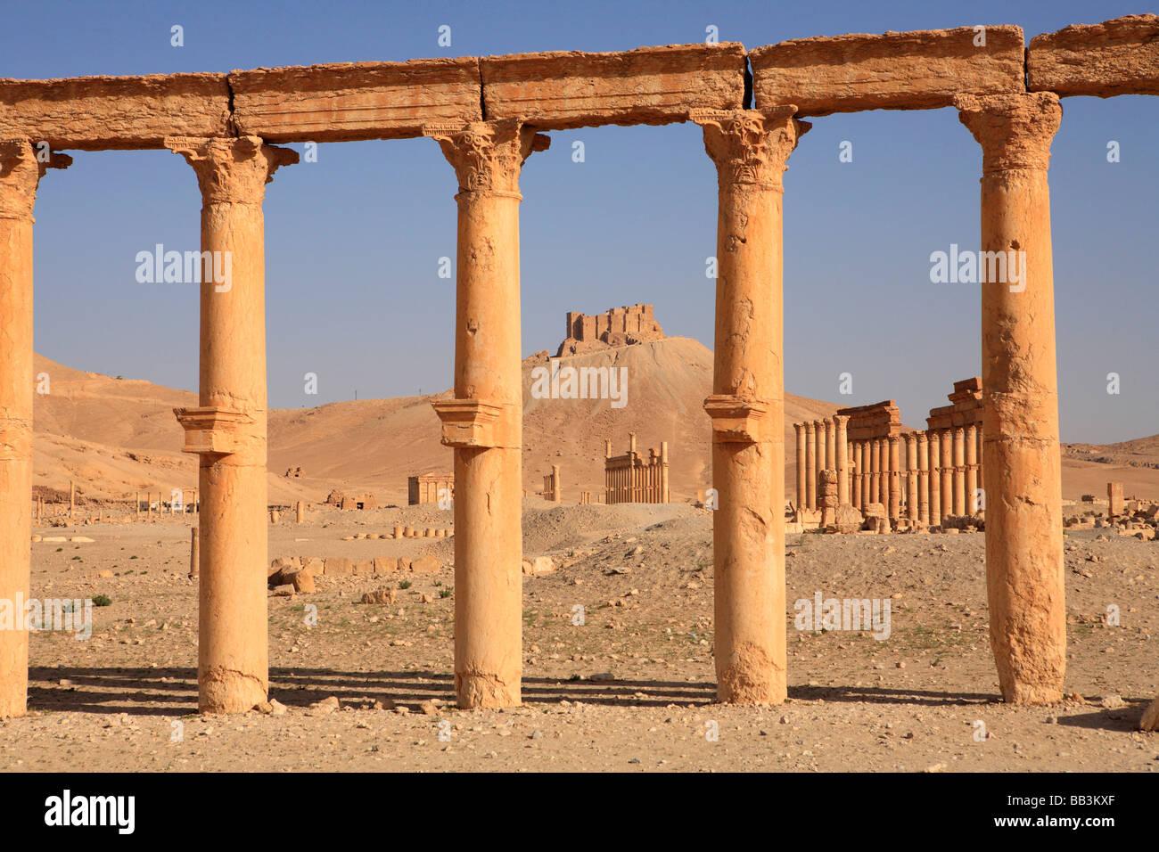 Ancient ruins, Palmyra, Syria - Stock Image