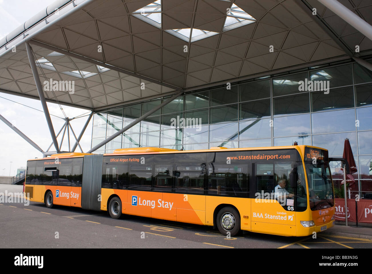 Stansted Long Stay >> Long Stay Transport Bus Stansted Airport Arrival And Departure Stock