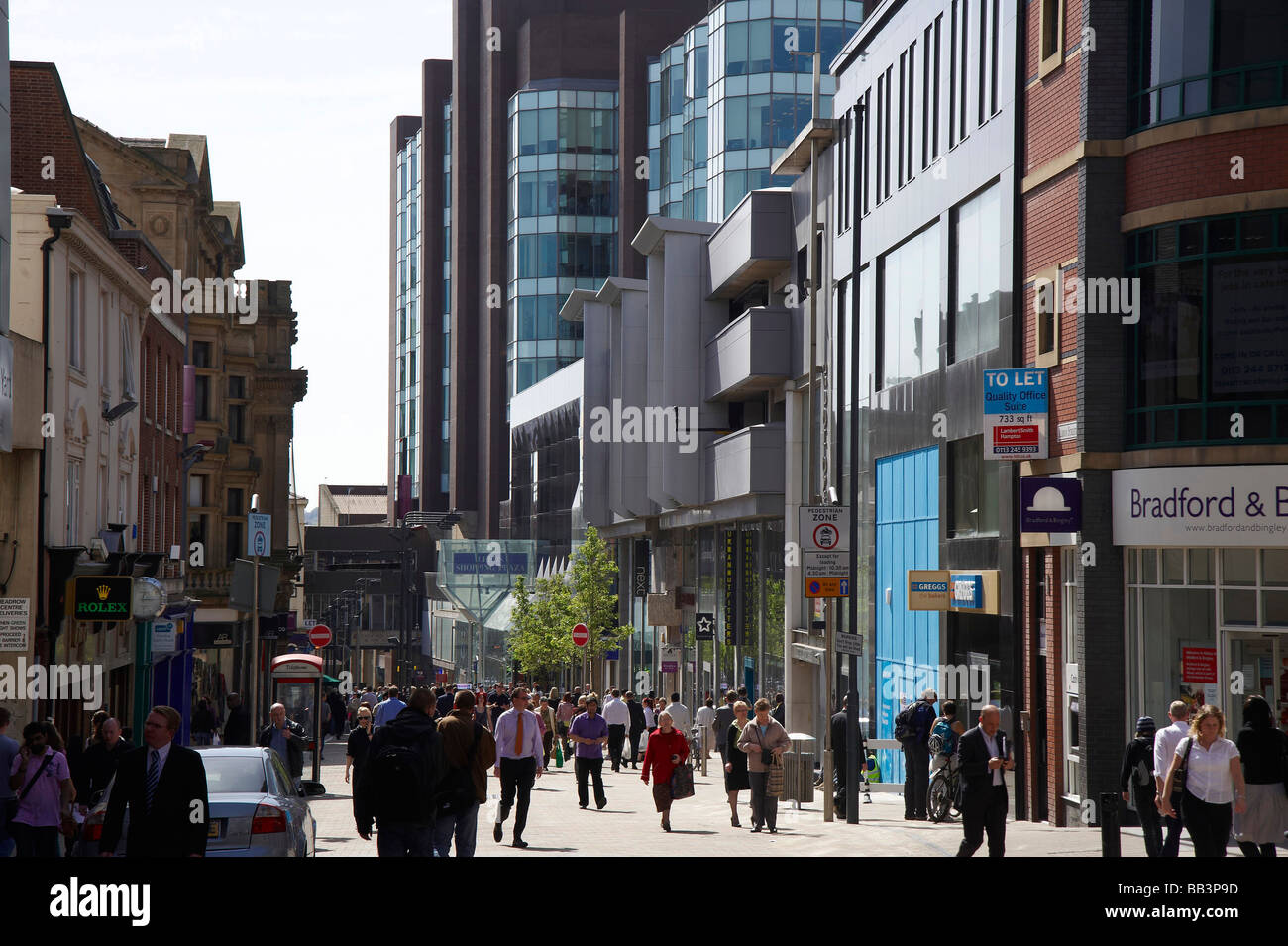 Albion Street, Leeds City Centre, Northern England - Stock Image