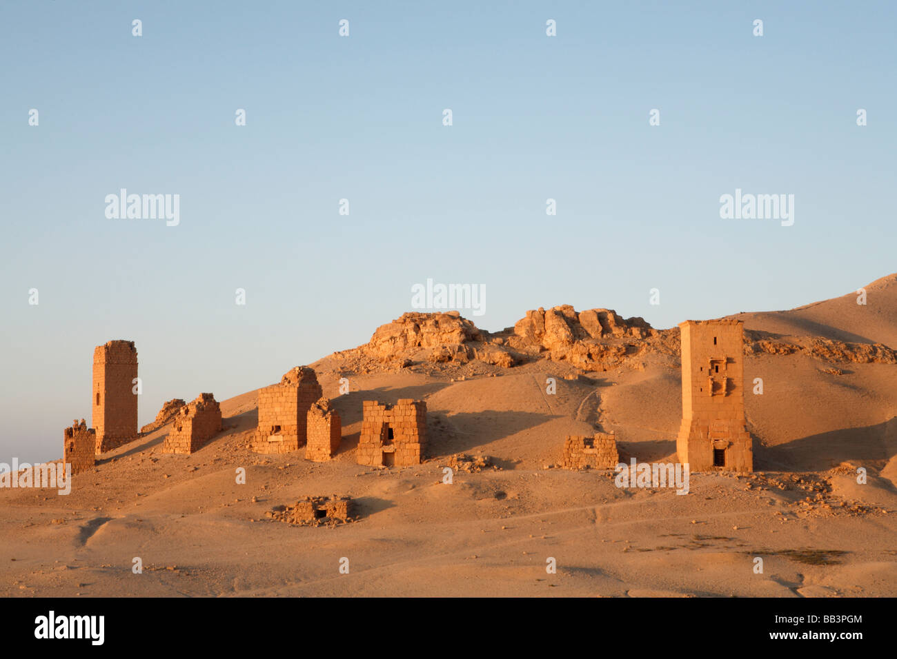 Valley of the Tombs, Palmyra Syria - Stock Image
