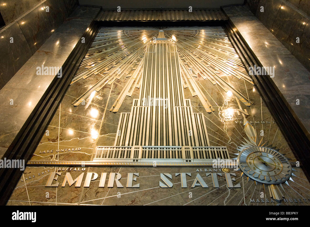 art deco lobby of the empire state building in manhattan new york stock photo 24055247 alamy. Black Bedroom Furniture Sets. Home Design Ideas
