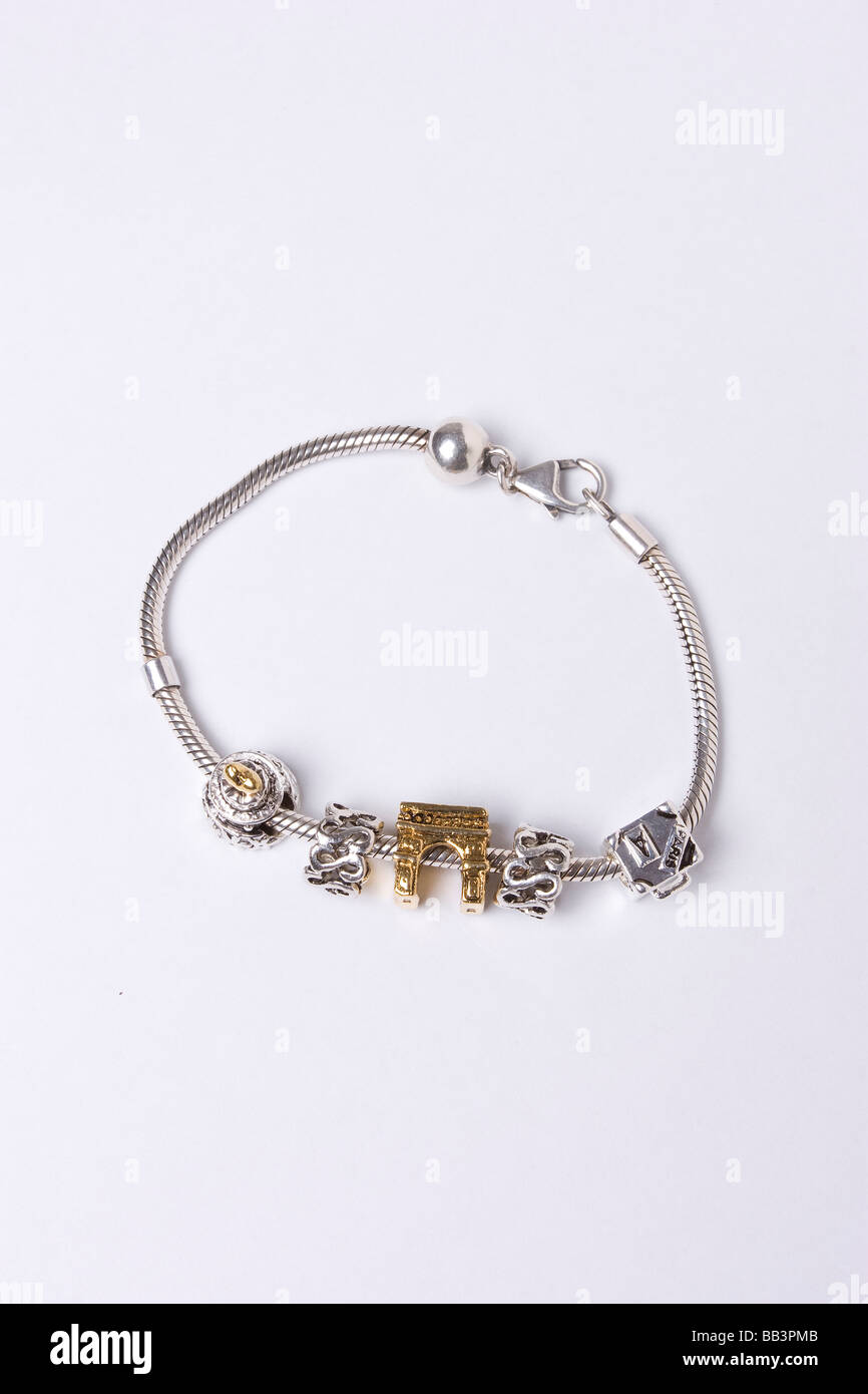ddaada41c Fake Pandora bracelet and charms Stock Photo: 24055259 - Alamy