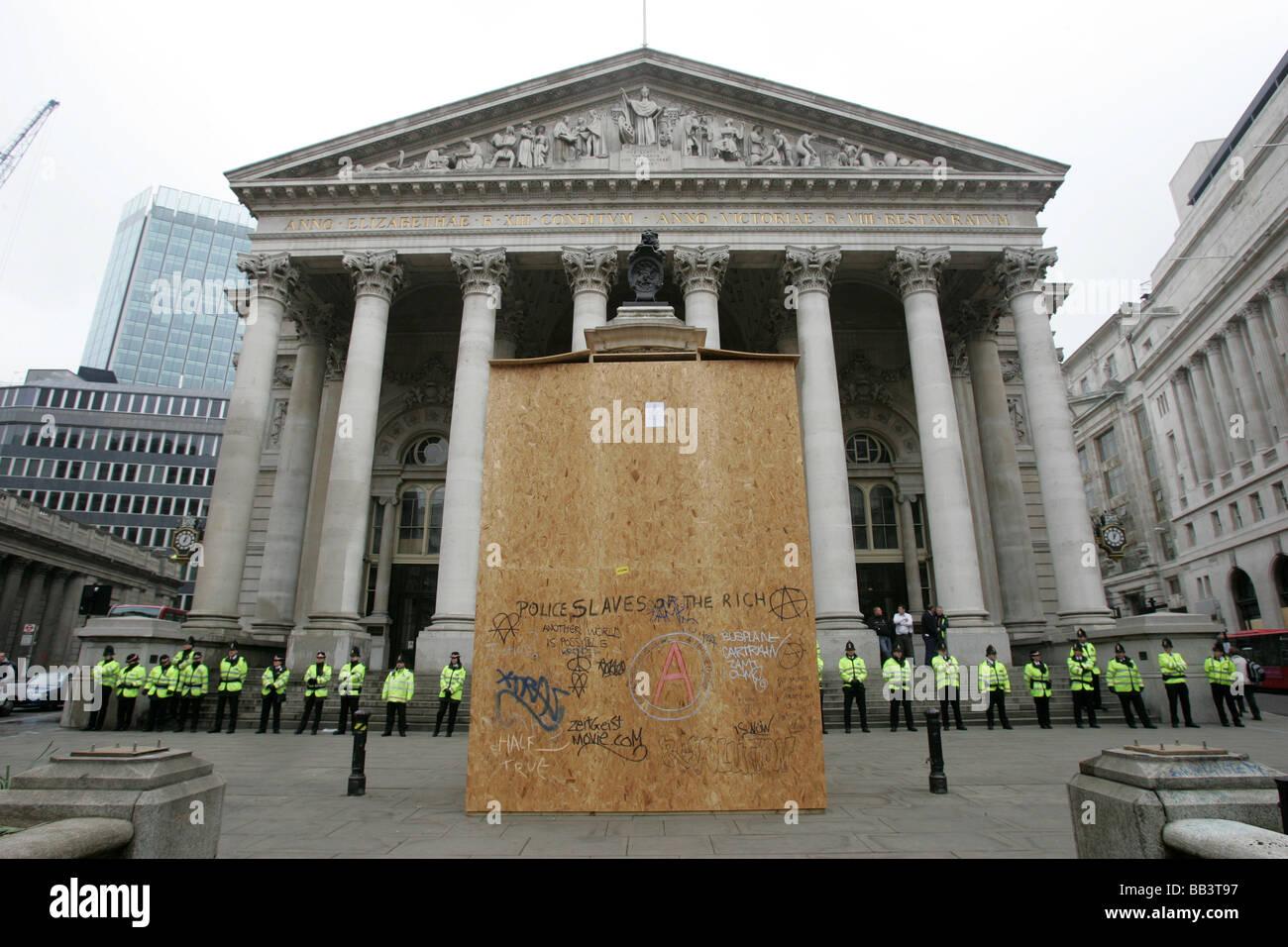 WW1 War Memorial, Royal Exchange - Stock Image