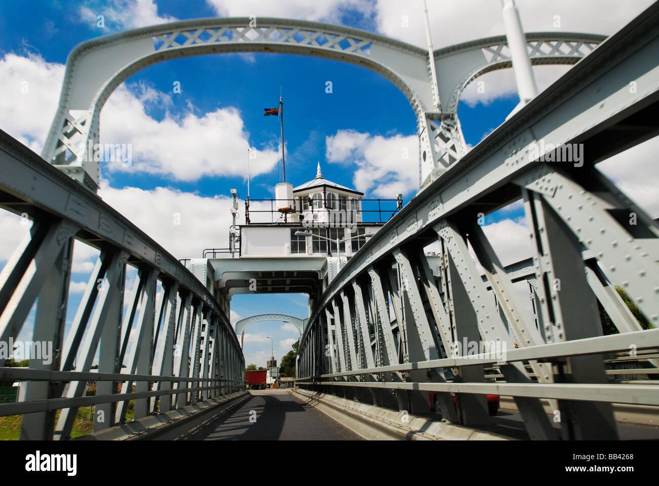 photograph of Sutton road bridge over the river Nene - Stock Image