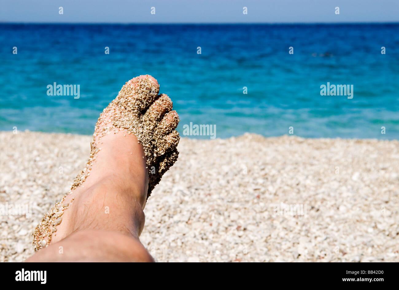 Greek Island Karpathos: Apella beach Stock Photo