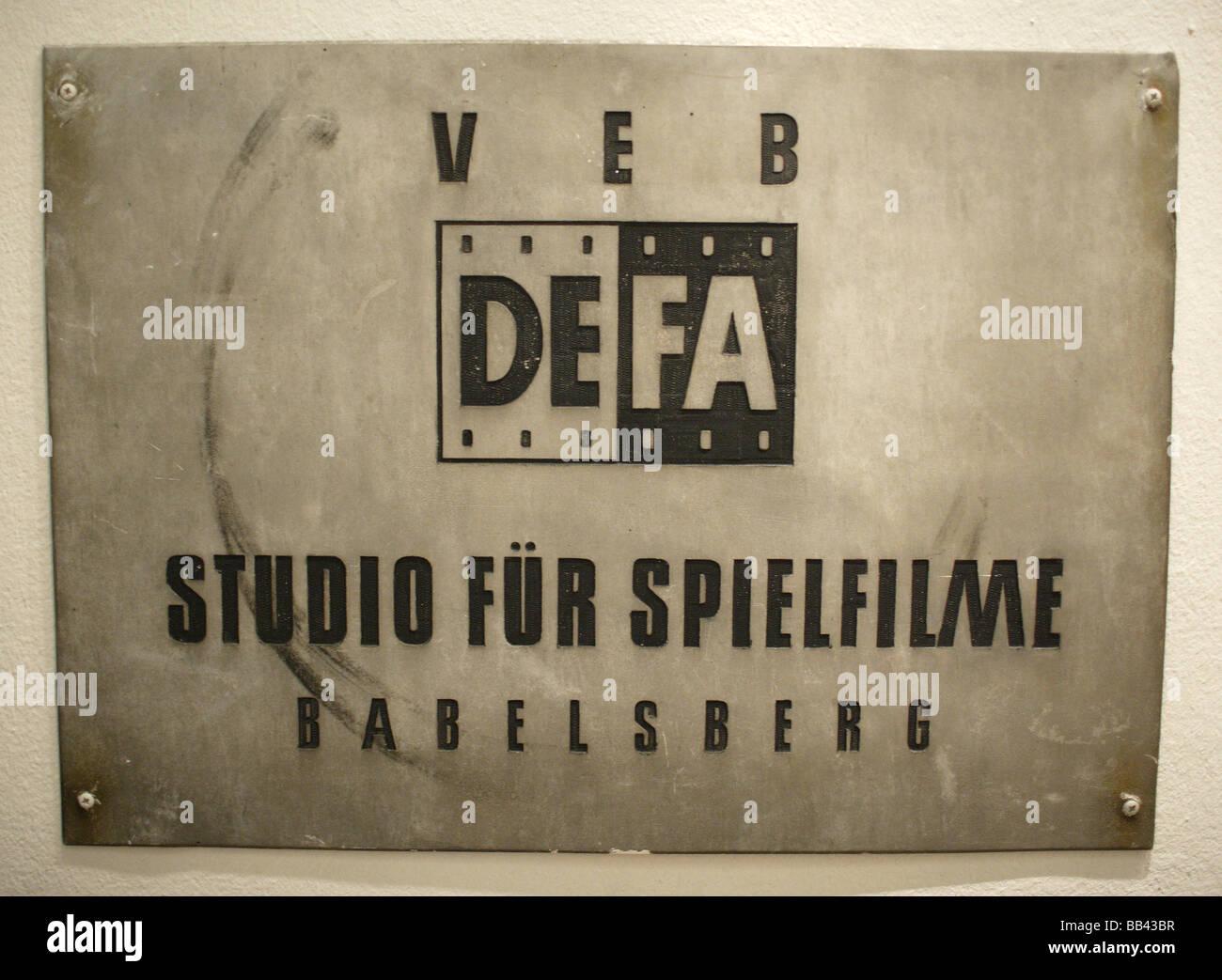 DEFA at Filmmuseum Potsdam - Stock Image
