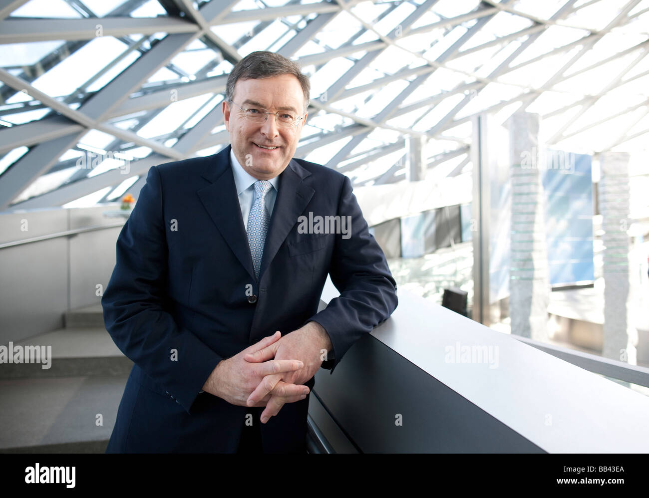 Norbert REITHOFER CEO of BMW AG at BMW World Munich - Stock Image