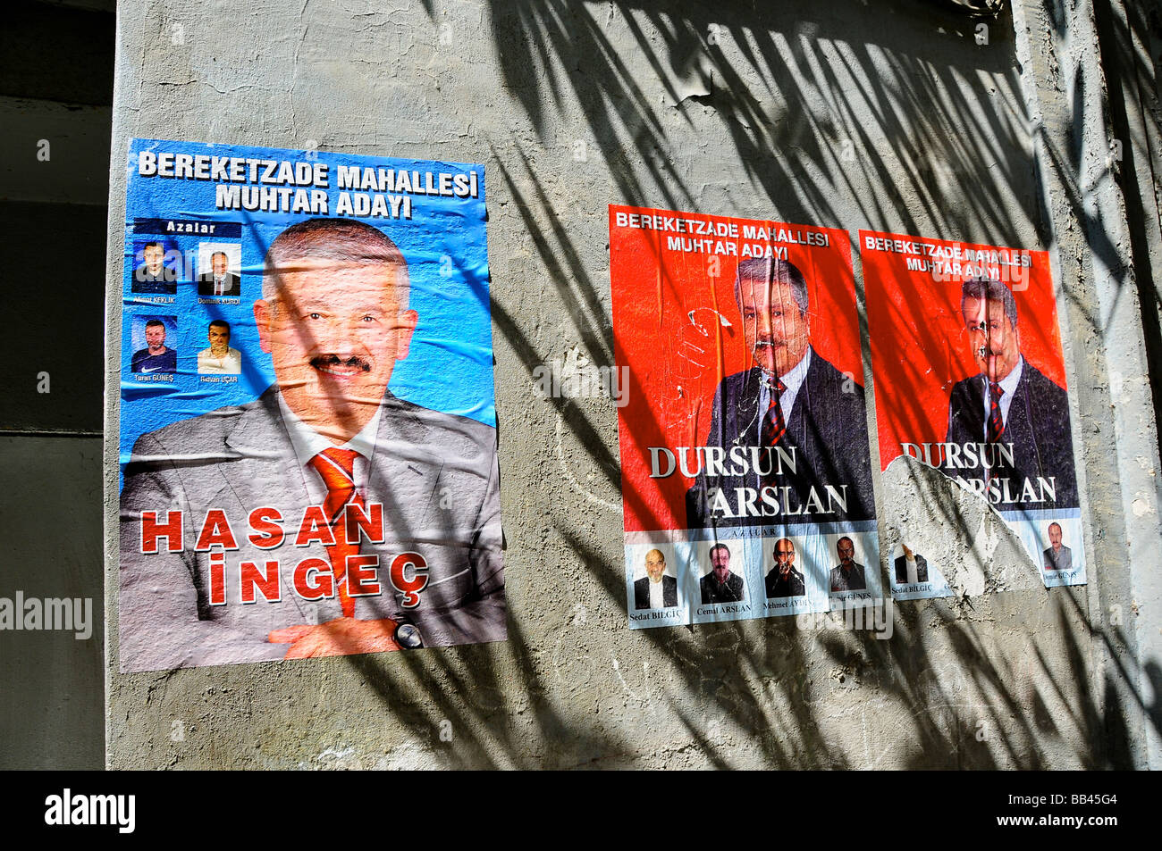 Election posters, Istanbul, Turkey - Stock Image