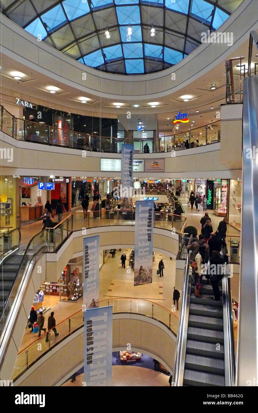 Shopping mall City Arkaden Wuppertal - Stock Image
