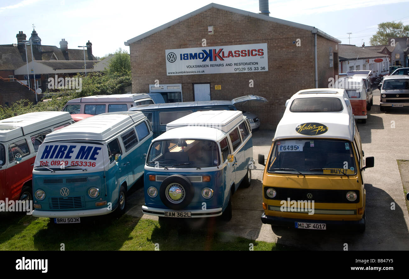 Volkswagon VW camper vans for sale and hire - Stock Image