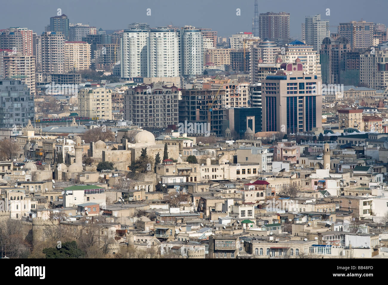 Overview of Baku, Azerbaijan. - Stock Image
