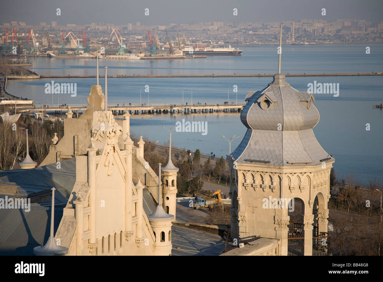 Overview of Baku, Azerbaijan - Stock Image