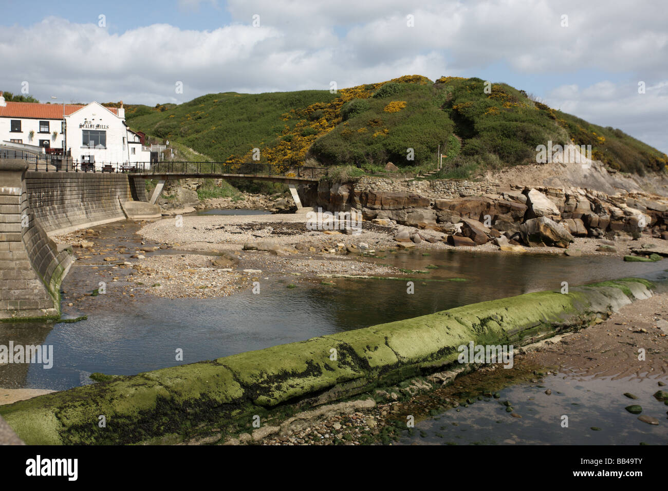 Scalby Mills near Scarborough North Yorkshire - Stock Image