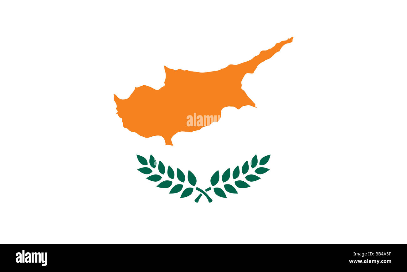 flag of Cyprus - Stock Image