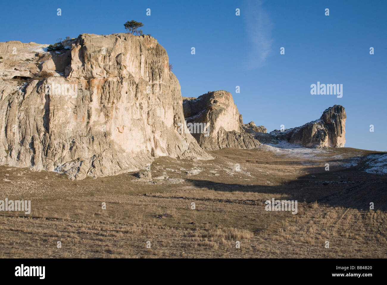 Rugged landscape in central Turkey. - Stock Image