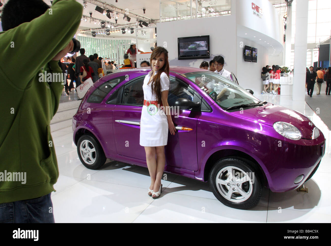 Annual car show in Beijing. Stock Photo