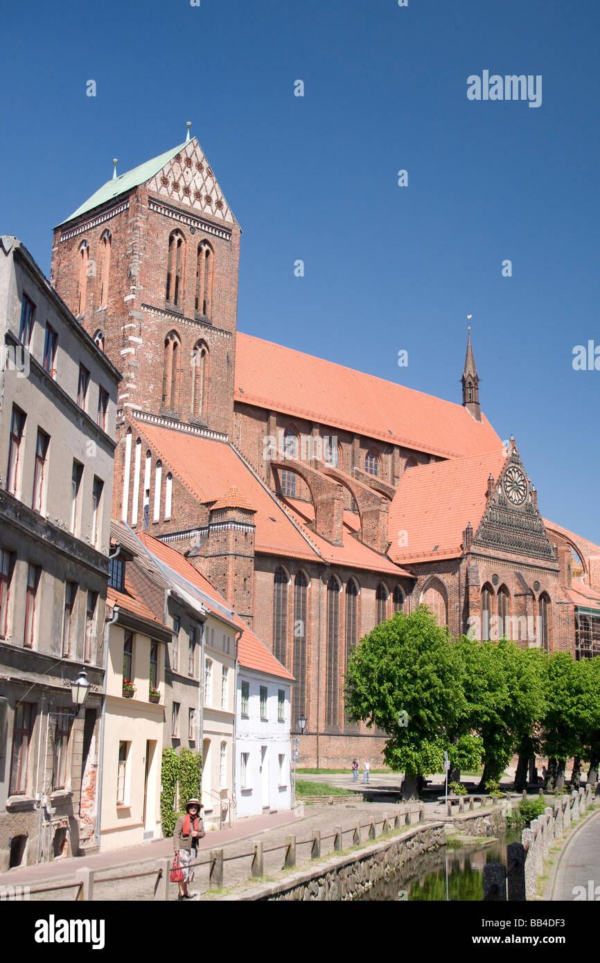 Ev.-luth. St. Nikolai, Wismar Germany - Stock Image