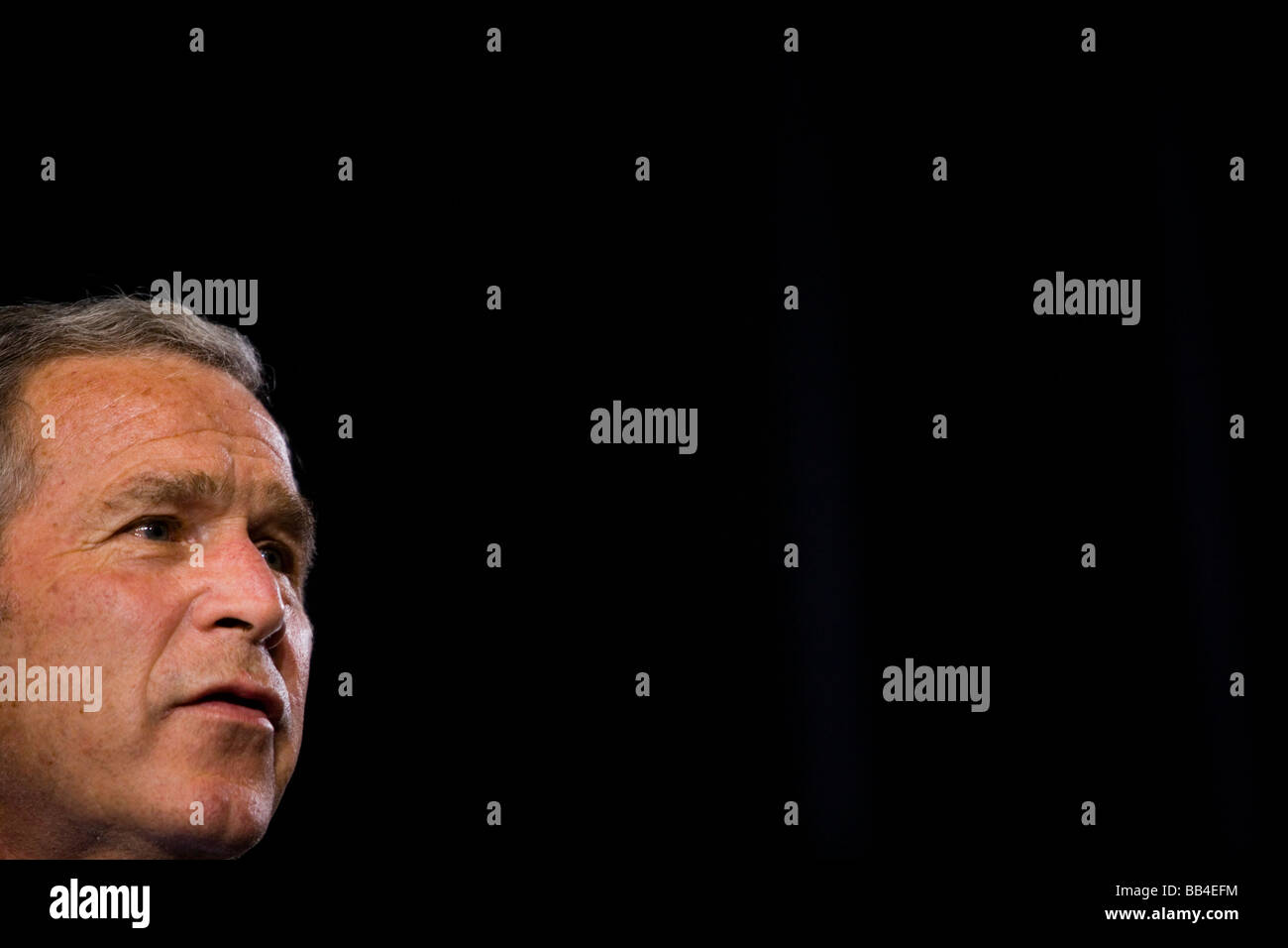 President Bush attends a New Jersey Republican fundraiser Stock Photo
