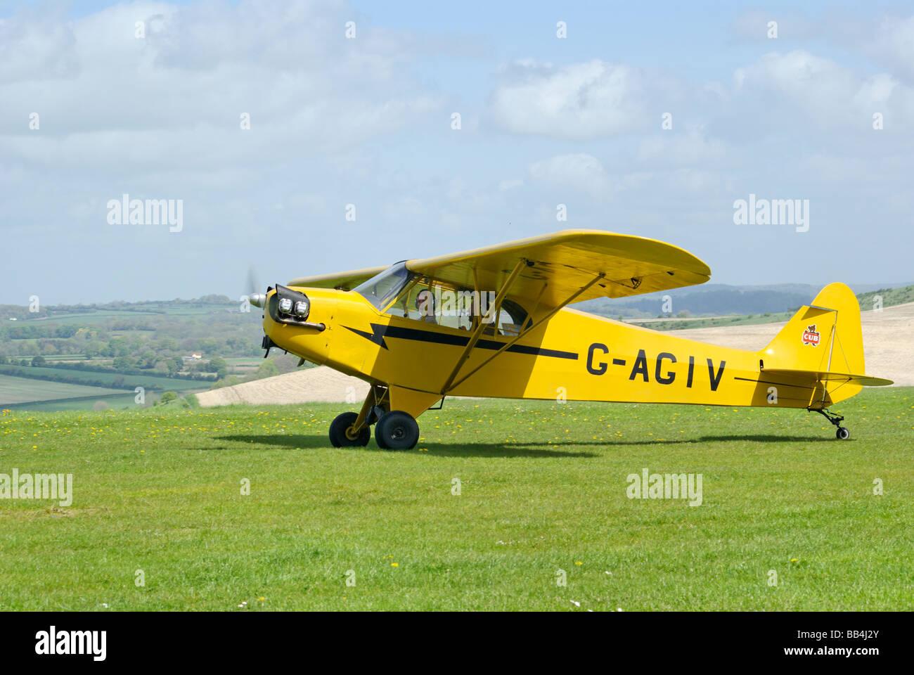 Piper Cub aircraft - Stock Image