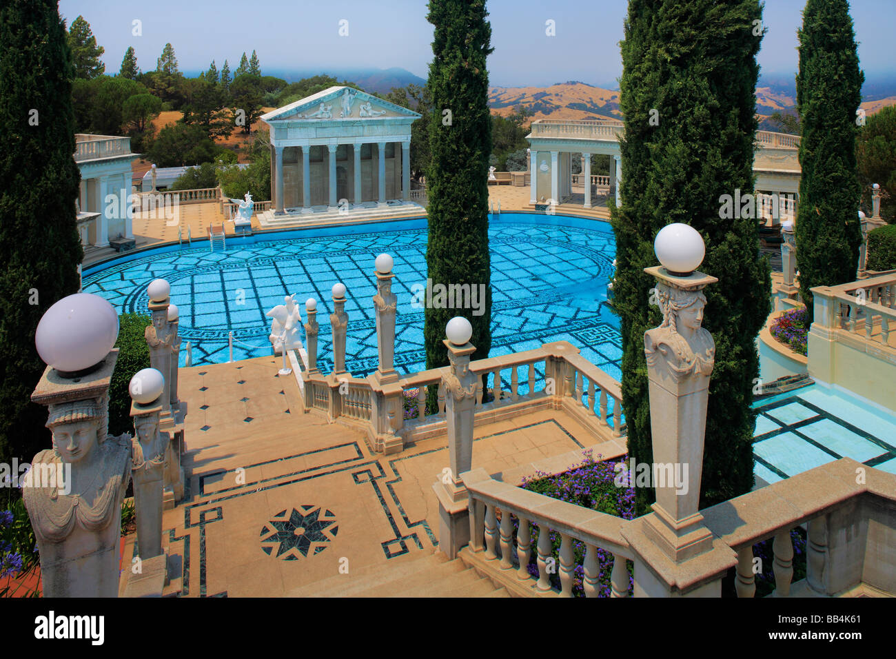 Hearst Castle in San Simeon, California Stock Photo
