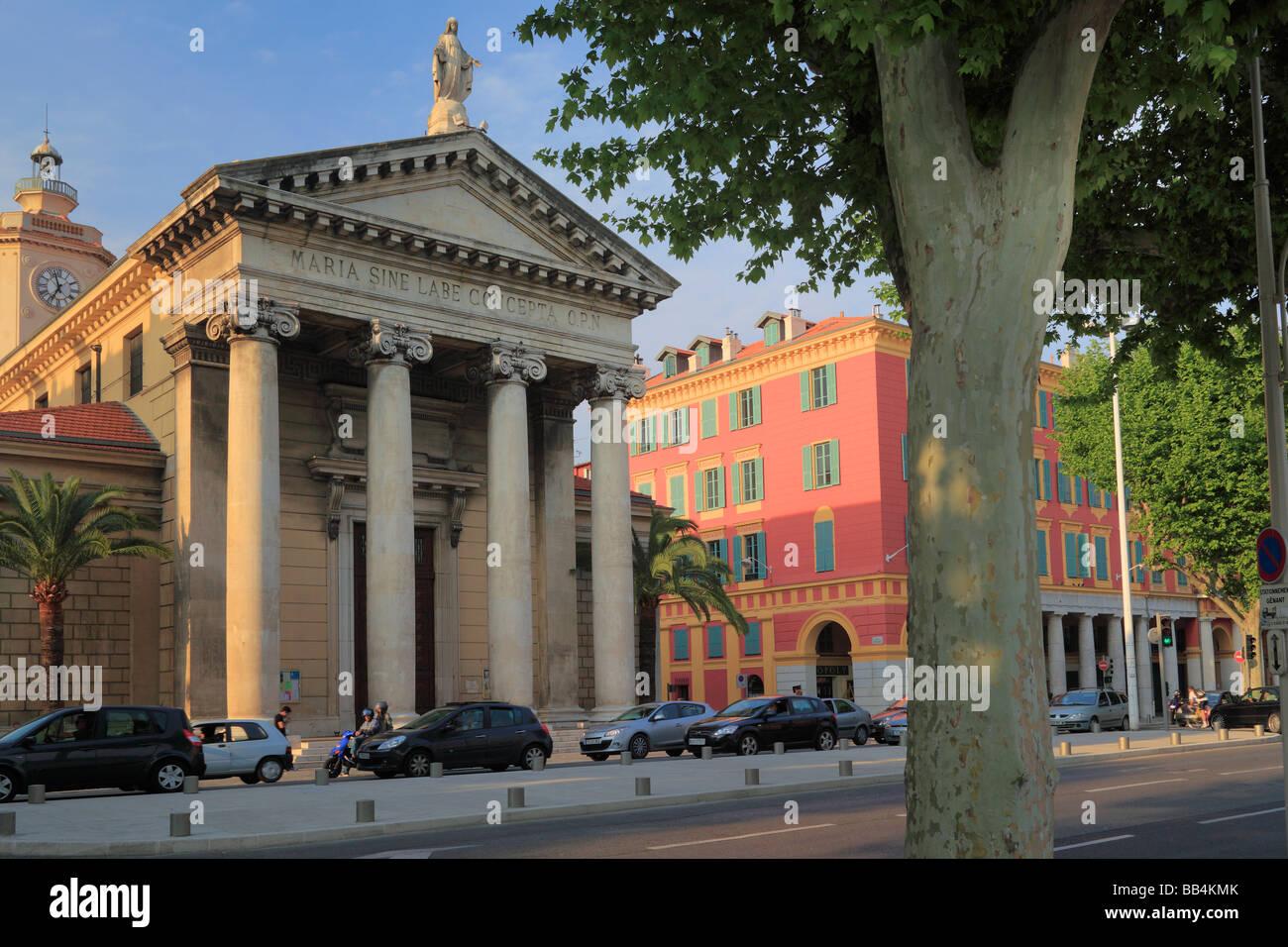 Notre Dame du Port church near the port in Nice Cote d'Azur, France - Stock Image