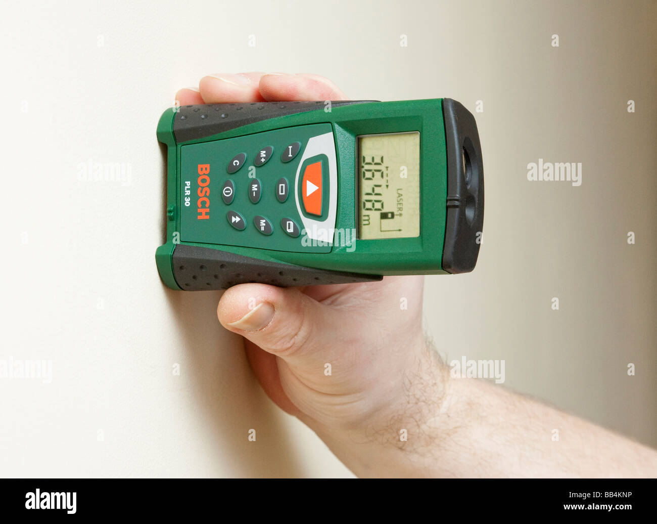 Bosch digital laser rangefinder - Stock Image
