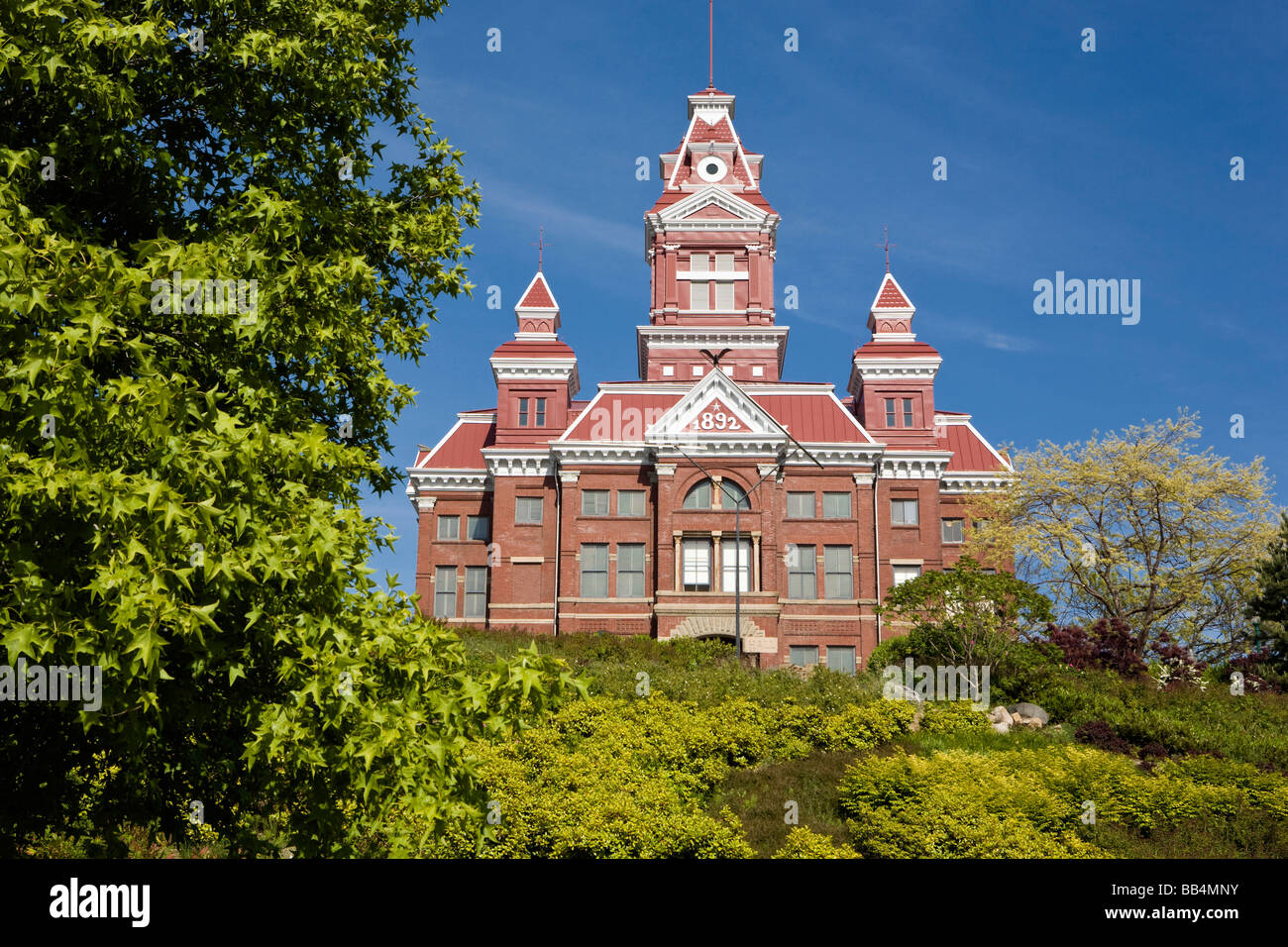 Whatcom Museum of History & Art on Prospect Street housed in a beautiful 1890s era courthouse, in Bellingham Stock Photo