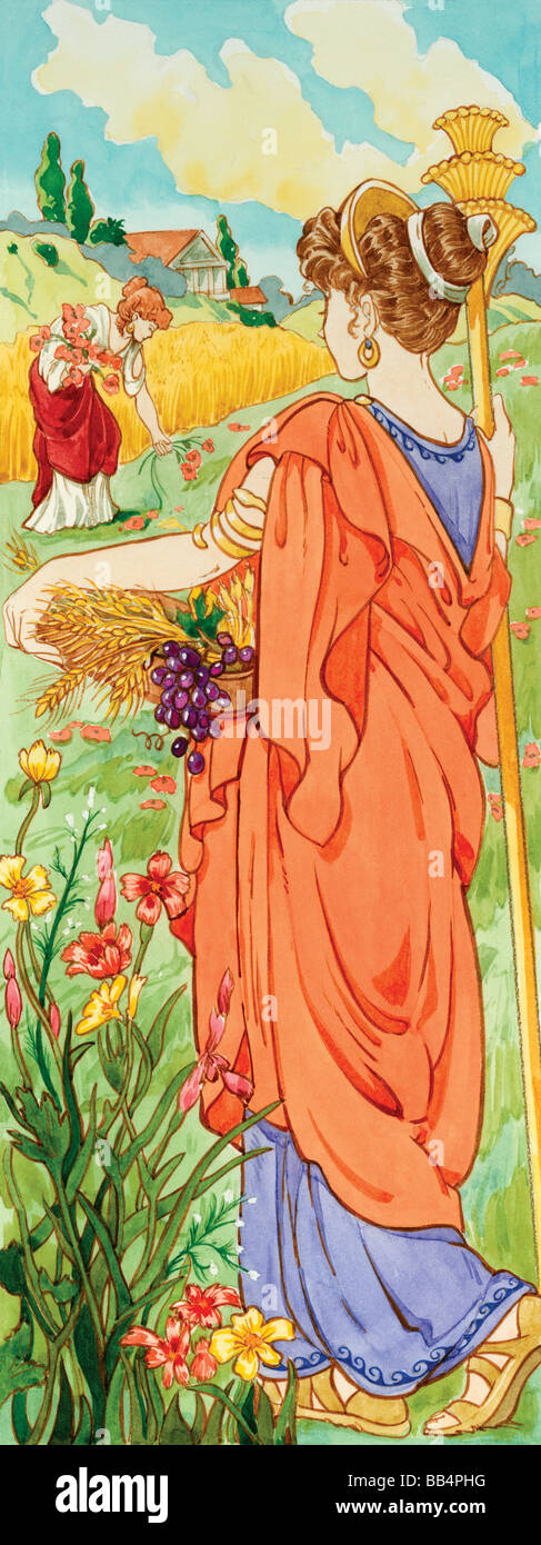 In Greek Mythology Demeter Was The Goddess Of Agriculture In Roman