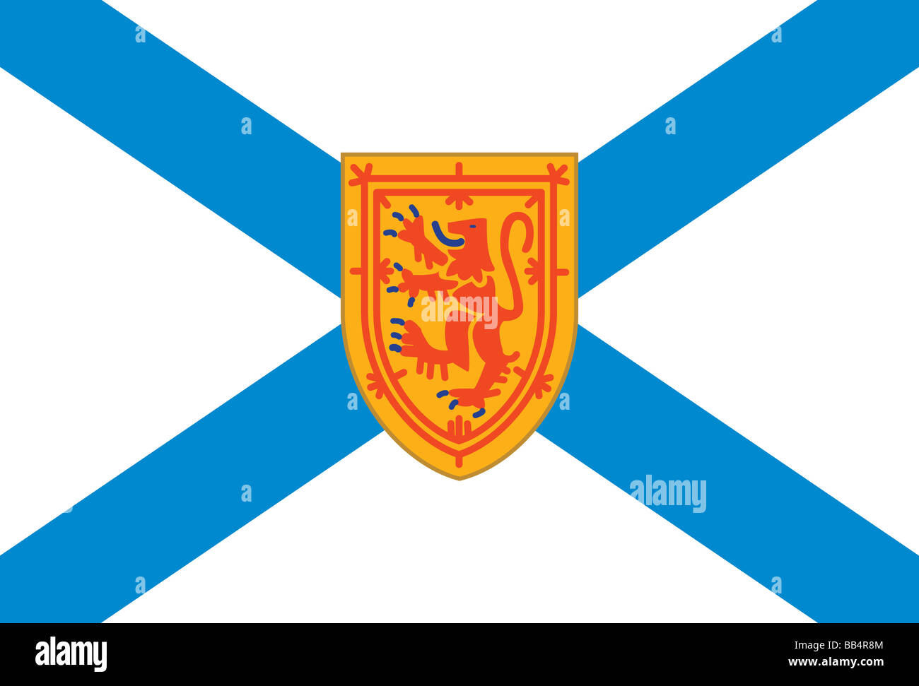 Flag of Nova Scotia, a Canadian province located on the eastern seaboard of North America. - Stock Image