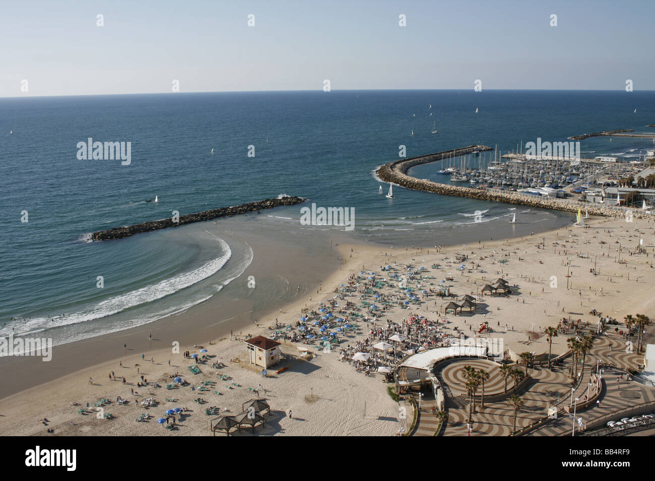 Beach of Tel Aviv, Israel - Stock Image