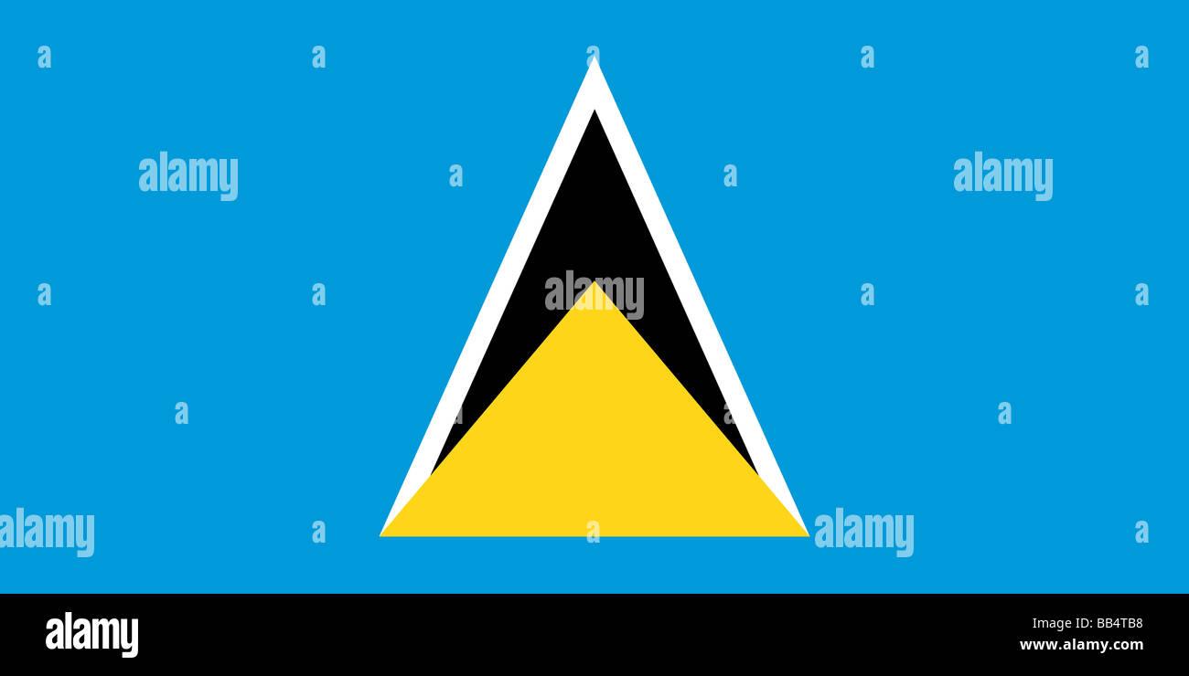 flag of Saint Lucia - Stock Image