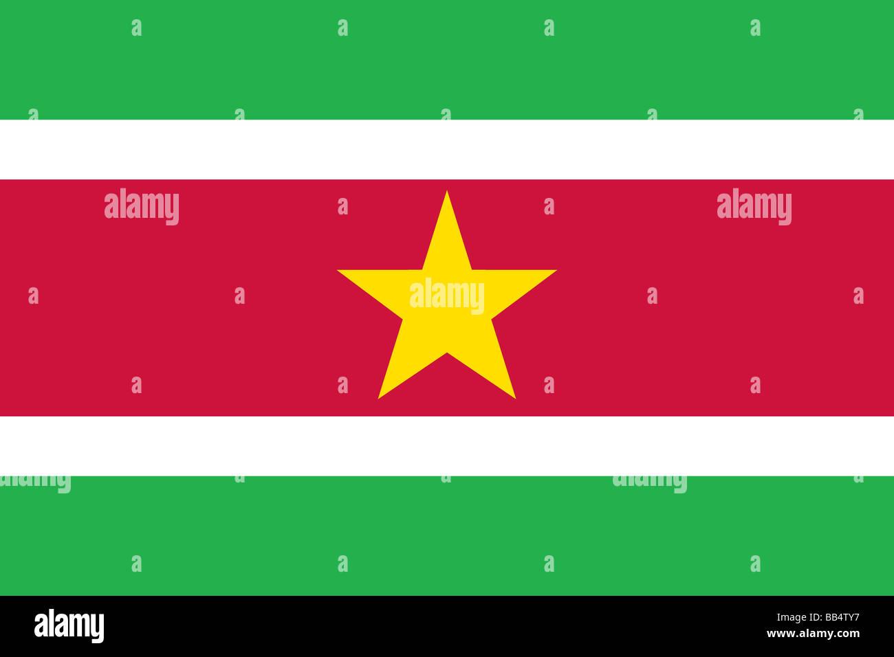 flag of Suriname - Stock Image