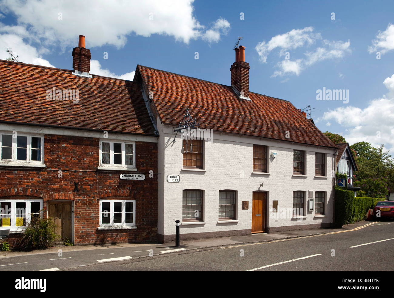 England Berkshire Bray Village High Street Fat Duck restaurant Stock Photo