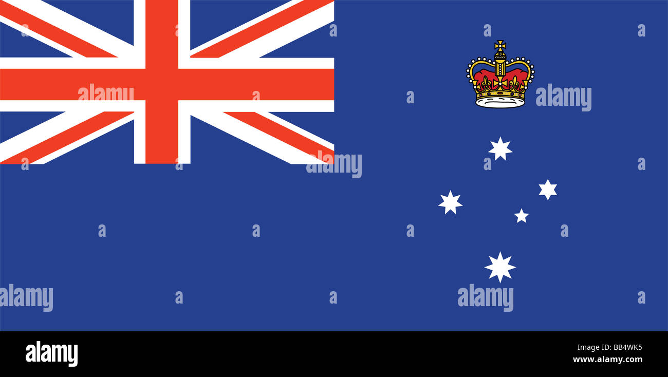 flag of Victoria - Stock Image