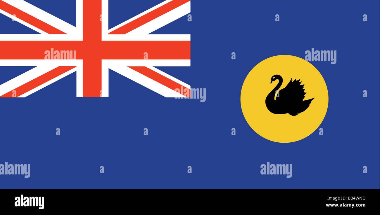 flag of Western Australia - Stock Image
