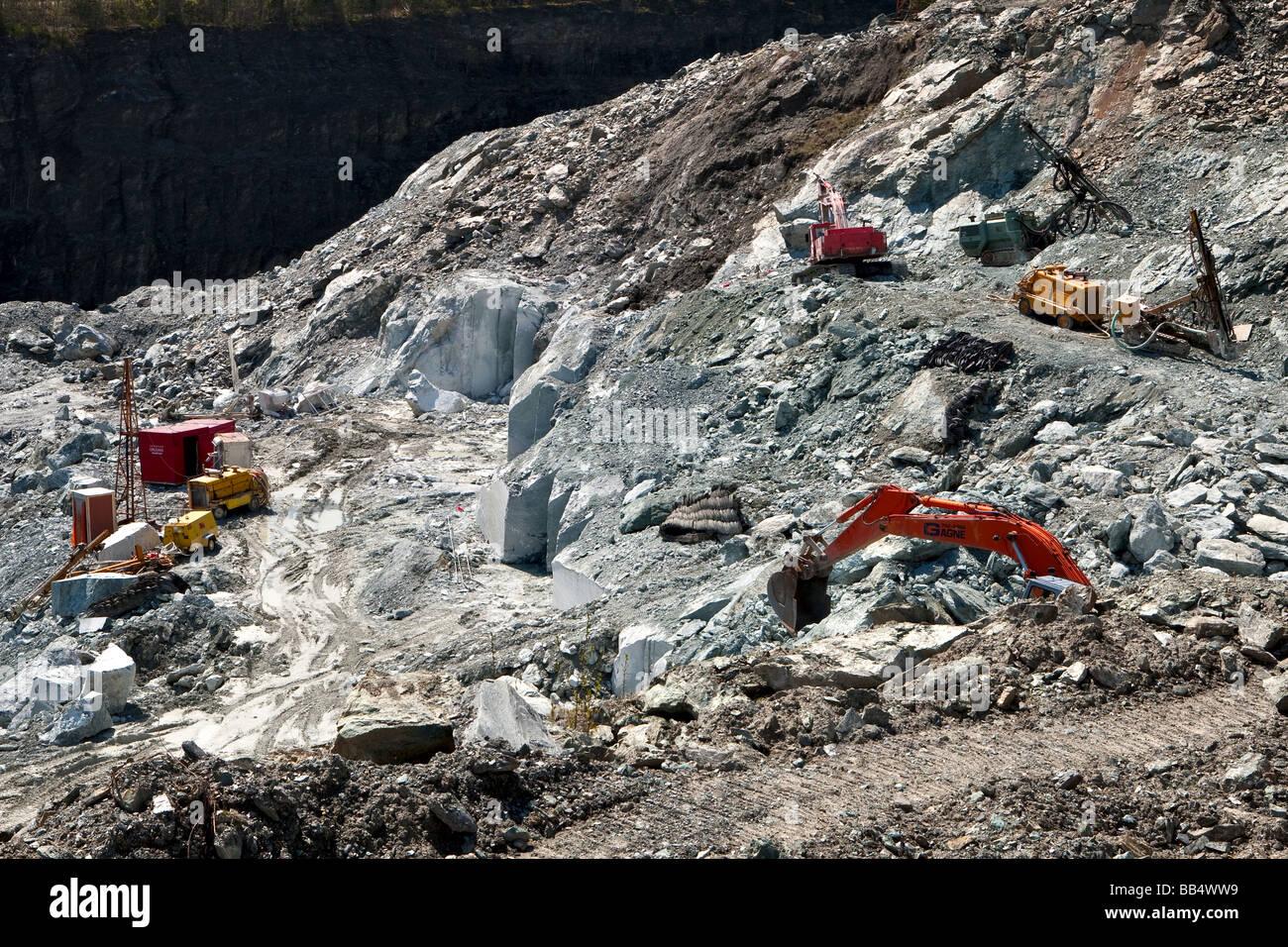 Asbestos mining site near Thetford Mines Quebec Canada - Stock Image