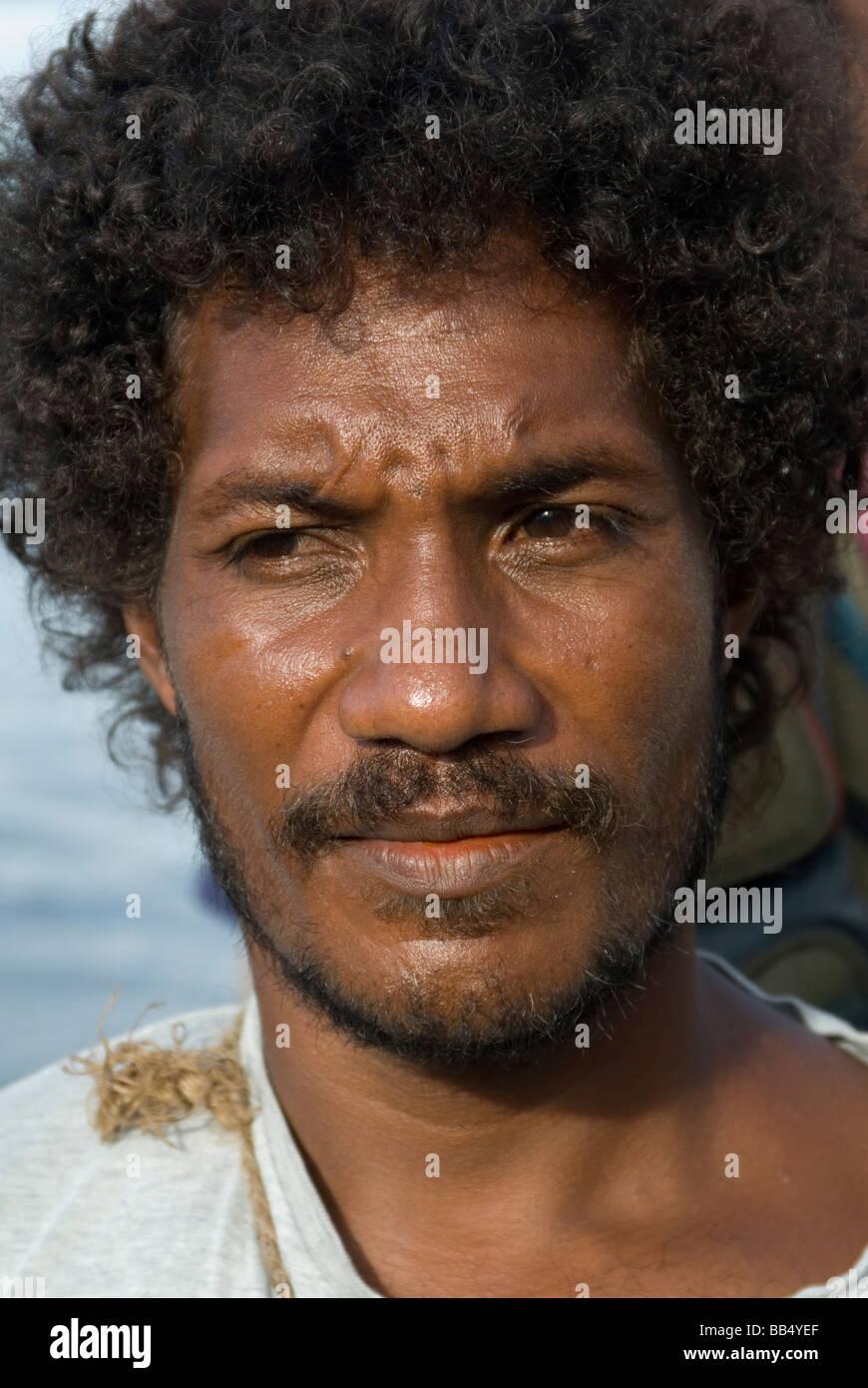 Solomon Islander in Honiara, Solomon Islands - Stock Image
