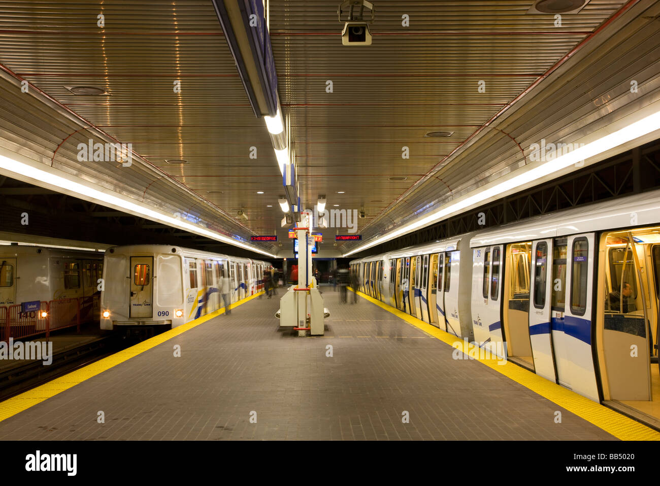 A Skytrain Station part of the subway system Vancouver British Columbia Canada Stock Photo