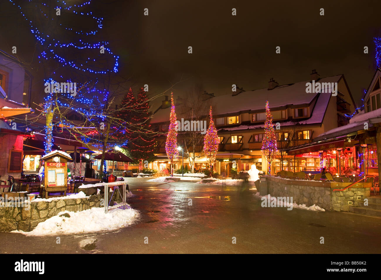 The town of Whistler one of the host venues for the 2010 Vancouver Winter Olympics British Columbia Canada Stock Photo