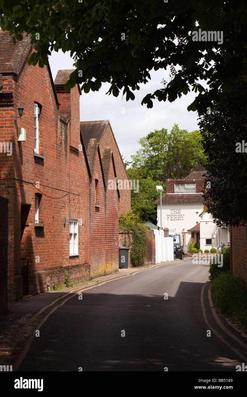 England Berkshire Cookham Ferry Lane leading to the Ferry Public House Stock Photo