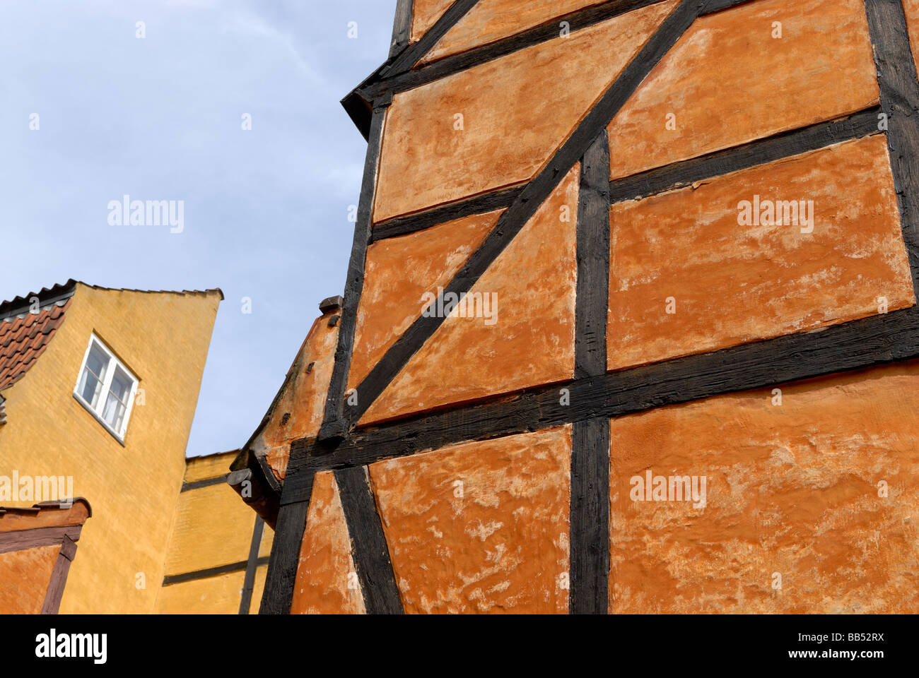 HALF-TIMBERED BUILDINGS - Stock Image
