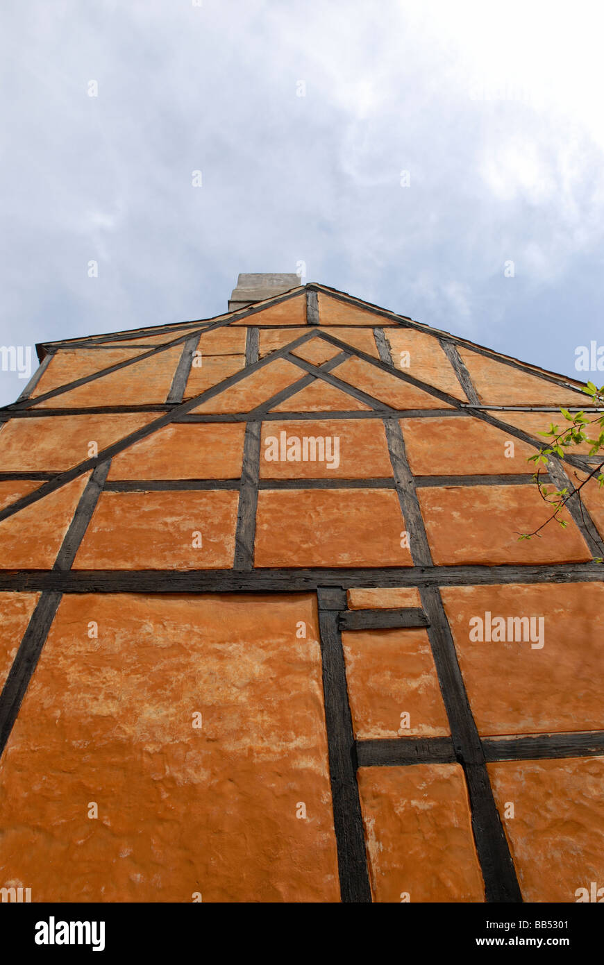 HALF-TIMBERED GABLE - Stock Image