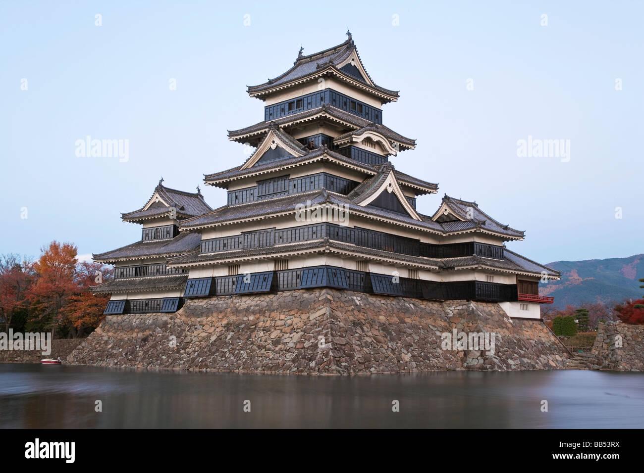 Matsumoto Castle, Matsumoto, Nagano Prefecture, Chubu, Honshu, Japan, Asia - Stock Image