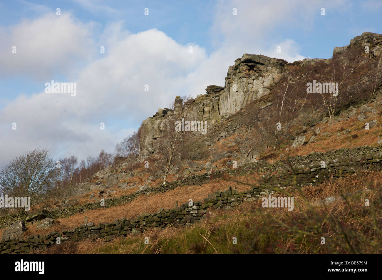 Curbar Edge - Stock Image